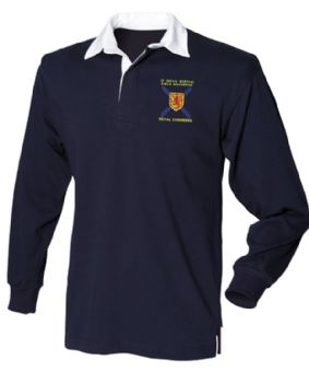 12 Nova Scotia Fld Sqn Embroidered Plain Rugby Shirt